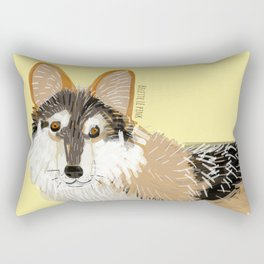 Mexican Wolf (Canis lupus baileyi) (TOPOS) Rectangular Pillow