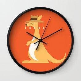 Animal Alphabet - Kangaroo Wall Clock