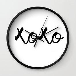 XOXO monochrome Wall Clock