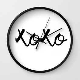 XOXO monochrome Wall Clock