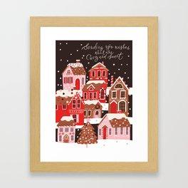 Gingerbread Village Framed Art Print