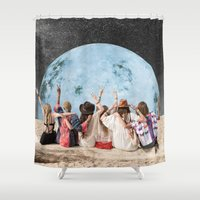 peace Shower Curtains featuring Peace by Cs025