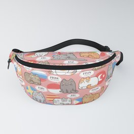 Meows Around The World Fanny Pack