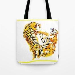 Tiger Fight Tote Bag