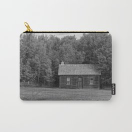 Little House Black and White Carry-All Pouch