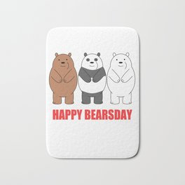 Happy Bears Day Bath Mat