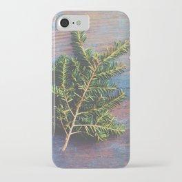 Hemlock on Blue Table iPhone Case