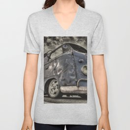 Distressed Camper  Unisex V-Neck