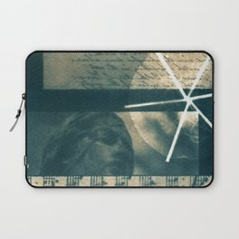 Fragments of the Past (23), art print, collage, blue print, cyanotype print, wall art, wall decor Laptop Sleeve
