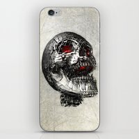 cyberpunk iPhone & iPod Skins featuring No Laughing Matter (background option) by Obvious Warrior