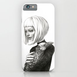 Black Raven in a White Raven's Mask iPhone Case