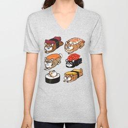 Sushi Shiba Inu Unisex V-Neck