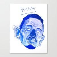 kendrick lamar Canvas Prints featuring Kendrick Lamar by HUSKMELK