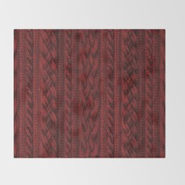 Cardinal Red Cable Knit Throw Blanket