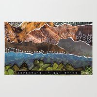 adventure is out there Area & Throw Rugs featuring Adventure Is Out There by Jenndalyn