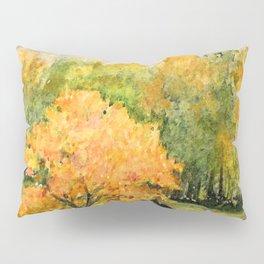 Autumn Landscape Horses Under Maples Pillow Sham