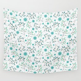 Under the Mistletoe Pattern Wall Tapestry