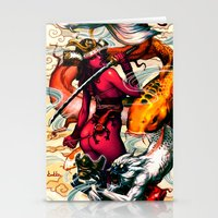 misfits Stationery Cards featuring Samurai-Sugar x misfits 2 by kunkka