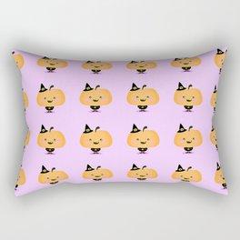 Halloween pumpkin in witch costume Rectangular Pillow