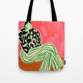 Beige Shopper Bag Minimal Art Bag Tote bag Gift Idea Matisse Abstract Art Tote bag Red Tote Bag Top Shop Tote Bag Must Have Bag