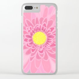 Pink Daisy Clear iPhone Case