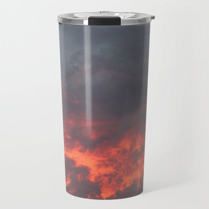 Irish Skies - Fiery Sky on a Summer Evening Travel Mug