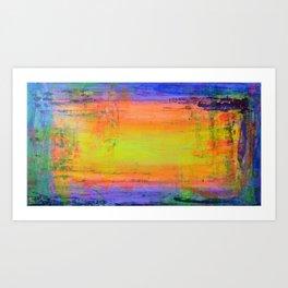 How do you see the sunset...? abstract original art contemporary rainbow colourful abundance joy Art Print