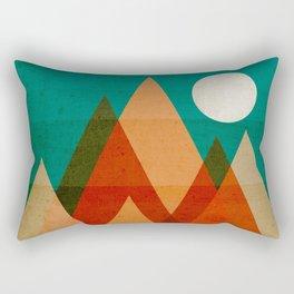 Full moon over Sahara desert Rectangular Pillow