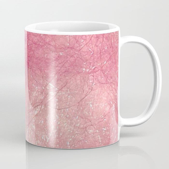 Handmade felt pink textured swirl digital photograph Coffee Mug