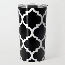 MOROCCAN BLACK AND WHITE PATTERN #2 Travel Mug