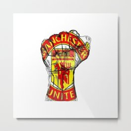 The Power of Manchester United Metal Print