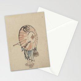 Japanese Art Print - Hokusai - Woman with Parasol, Kimono and Geta (1830s) Stationery Cards