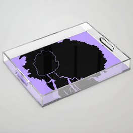 purple Acrylic Tray
