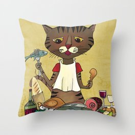 'Owen's Second Breakfast' Throw Pillow
