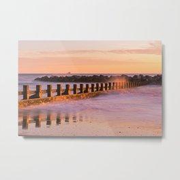 Sunrise at Aberdeen Beach in Scotland Metal Print