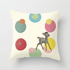 Go Bambi! Throw Pillow