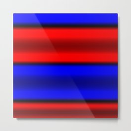 Red & Blue Horizontal Stripes Metal Print