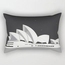 Sydney Opera House architectural poster design Rectangular Pillow