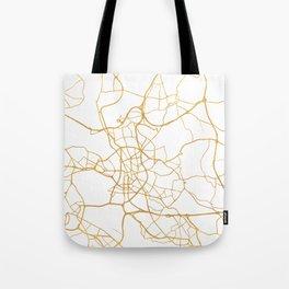 DÜSSELDORF GERMANY CITY STREET MAP ART Tote Bag