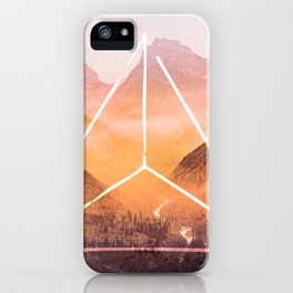 The Elements Geometric Nature Element of Fire iPhone Case