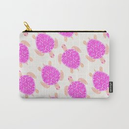 Sea Turtle – Pink Palette Carry-All Pouch