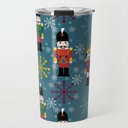 Snowy Royal Nutcrackers Travel Mug
