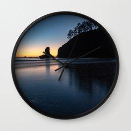 Sea Stack Silhouette Wall Clock