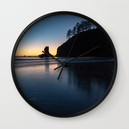 Sea Stack Silhouette Wall Clock