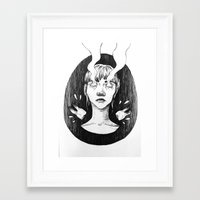 tooth Framed Art Prints featuring tooth by Jannicke Hansen