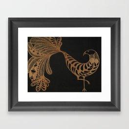 Golden Bird #2 Framed Art Print