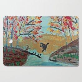 Autumn Duck Pond Cutting Board