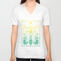 balance V-neck T-shirts featuring Balance by Shirley Jackson