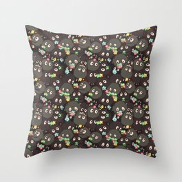 Soot Sprite Throw Pillow