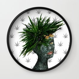 A Portrait of Mary Jane Wall Clock